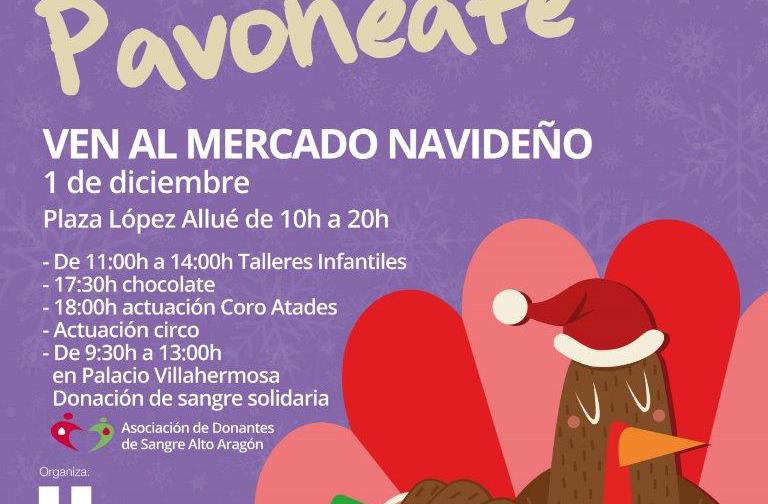 Cita con la donación de sangre en el mercado navideño de Huesca