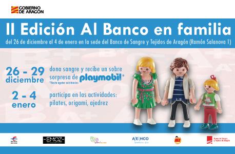 Vuelven las actividades navideñas para niños en el Banco de Sangre y Tejidos de Aragón