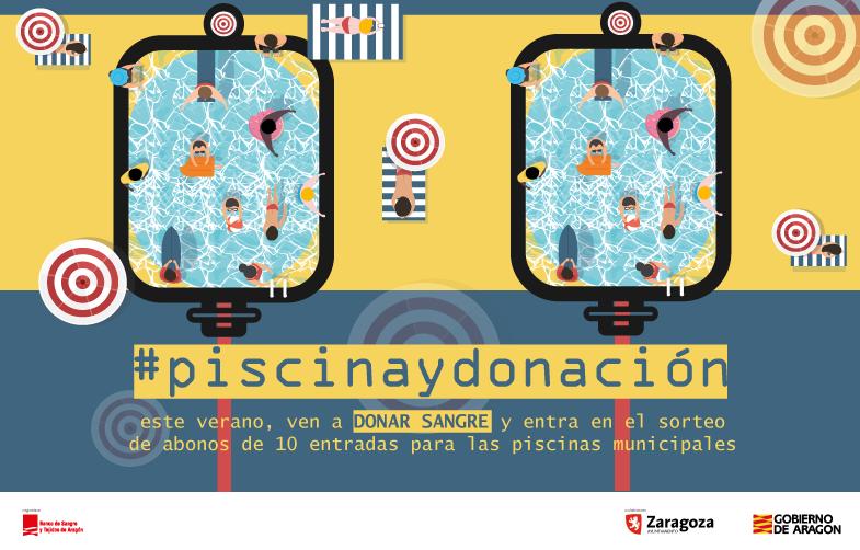 El Banco de Sangre y Tejidos de Aragón y el Ayuntamiento de Zaragoza promocionan la donación de sangre este verano