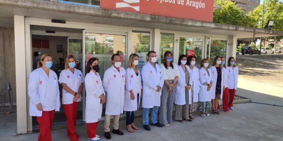 15 aniversario Banco de Sangre Aragón con la visita de Sira Repollés, consejera Sanidad